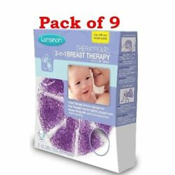 Lansinoh TheraPearl 3-in-1 Hot or Cold Breast Therapy 2 Count (Pack of 9)