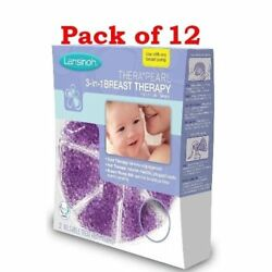 Lansinoh TheraPearl 3-in-1 Hot or Cold Breast Therapy 2 Count (Pack of 12)
