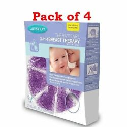 Lansinoh TheraPearl 3-in-1 Hot or Cold Breast Therapy 2 Count (Pack of 4)