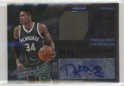 2015-16 Panini Absolute Frequent Flyer Material /99 Giannis Antetokounmpo Auto