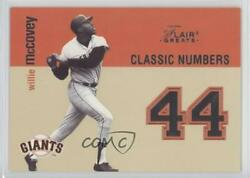 2003 Flair Greats Classic Numbers Willie Mccovey 2cn Hof