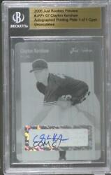 2006 Just Minors Rookies Preview Printing Plate Cyan 1/1 Clayton Kershaw Auto
