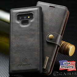 For Galaxy Note 20 10 9 8 Ultra Plus Leather Removable Wallet Magnet Case Cover