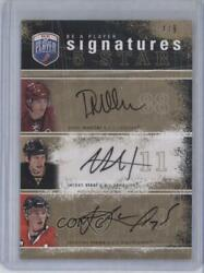 2007-08 Be A Player Signatures 5 Star /9 Peter Mueller Jordan Staal Rookie Auto
