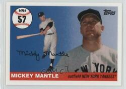 2006 Topps Multi-year Issue Home Run History Mickey Mantle Mhr57 Hof
