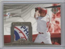 2004 Upper Deck Ultimate Collection Stat /52 Jim Thome St-jt Patch Hof
