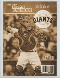 2016 Bunt Topps Online Exclusive Program 5 X 7 Gold /10 Buster Posey P-18