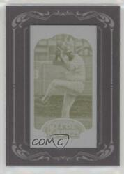 2012 Topps Gypsy Queen Printing Plate Minis Yellow Framed 1/1 Catfish Hunter Hof