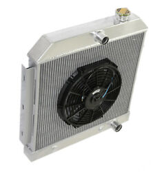3 Core Performance Radiator+12 Fan For 55-57 Chevy Bel Air/ Nomad V8 Mt Only