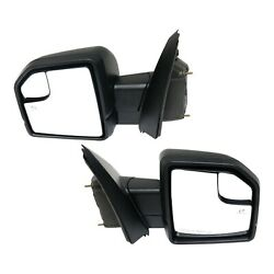 Mirror For 2015-2018 Ford F-150 Heated Power Folding Set Of 2 Lh Rh Paintable