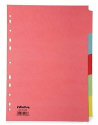 Pack Of 200 A4 4 5 Part Multi Coloured Manilla Dividers