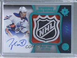 2015-16 Ultimate Collection Jumbo Materials Spectrum Blue 1/1 Taylor Hall Auto