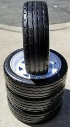4 Tire Amerityre 4.80-12 Golf Cart Trailer Tire Solid Flat Free Tire Industrial