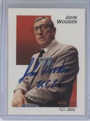 1992 Courtside Flashbacks #45 John Wooden JSA Certified UCLA Bruins Rookie Card