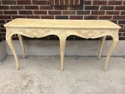 Henredon Sofa Table French Provincial Style Details In Soft Yellow Color