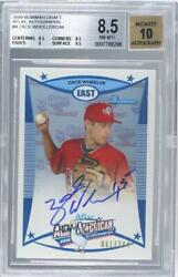2009 Bowman Draft Aflac All-american /244 Zack Wheeler Aflac-zw Bgs 8.5 Auto