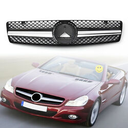 ABS Black Front Bumper Sport Grille Grill For Benz SL Class R129 W129 1990-2002