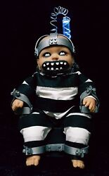 Zombie Baby In Electrocution Chair Horror Doll Halloween Haunted House Prop