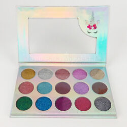 Unicorn Mermaid Glitter Eyeshadow Palette 15 Colors Shimmer Cosmetic Kit Makeup $12.99