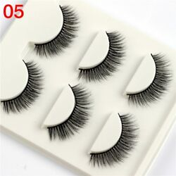 Gam-Belle® 3 pairsset 3D Eyelashes Natural Tapered Terrier Soft False Lashes
