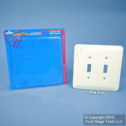 Leviton 2-Gang JUMBO White Switch Cover Oversize Toggle Wall Plate 89309-WH