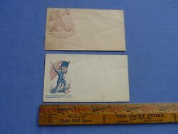 Two Civil War Envelopes With Images And Inscriptions