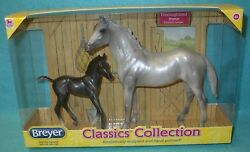 BREYER CLASSIC THOROUGHBRED MARE DUCHESS AND MORGAN FOAL #62031 NEW 10-13