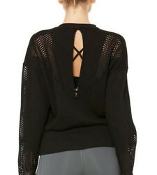 Alo Yoga Womenand039s Formation Long Sleeve Top - Size S Black