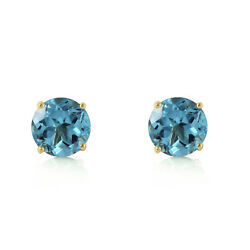 0.95 CTW 14K Solid Gold Honored Guest Blue Topaz Earrings Cute Stylish Design