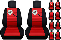Fits Ford Focus Front Car Seat Cover Black/red W/frogowldragonflymore