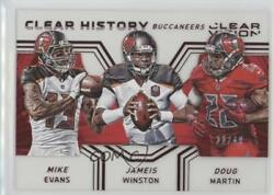 2016 Panini Clear Vision History Red /49 Doug Martin Jameis Winston Mike Evans