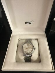 Montblac Star Date Silver Dial Stainless Steel Automatic Watch