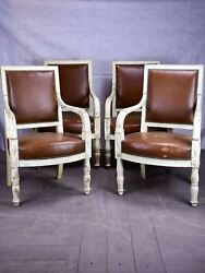 Four 19th century French armchairs
