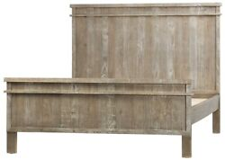 80 Wide Enrico Bed East King Solid Reclaimed Wood Antique Weathered Finish