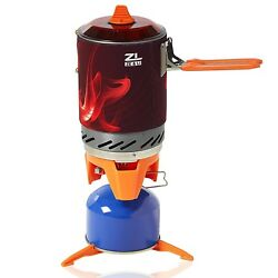 Portable Camp Stove Burner by Ze&Li Ultralight Backpacking Canister for ... New