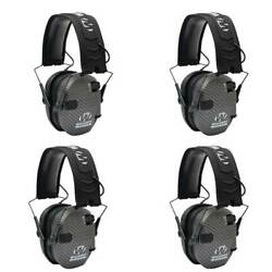 Walkers Razor Slim Shooter Hearing Protection Ear Muffs Punisher Black 3 Pack