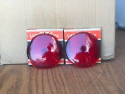 Vintage Classic Lynx Eye Stop And Tail Lamp Lenses 1937-38 Plymouth Dodge T-361