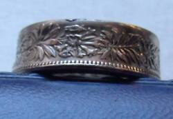 Swiss Silver Mens Coin Ring Size 12 Or Sized By Request. Oak Leaf Clusters 9gand039s