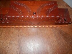 Vintage Carved Wooden Jewelry Box Chest 2 Tier Beautiful Carving 20.5 X 5 X 5