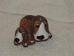 Darling Maguz Artist Clay Mother and Puppy Basset Hounds Rinconada Style