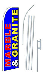 Marble And Granite Complete 12and039 Swooper Flag Starter Kit