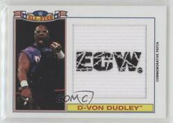 2016 Topps Heritage Wwe Commemorative All-star /299 D-von Dudley Rookie Patch