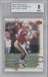 2000 Upper Deck Pros And Prospects Steve Young 71 Bgs 8 Hof