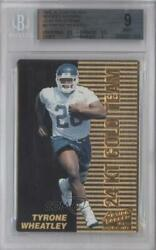 1995 Action Packed Rookies And Stars 24k Gold Team Tyrone Wheatley 4 Bgs 9 Rookie