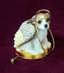 Jack Russell Terrier Smoothcoat Brown & White Angel Figurine Ornament