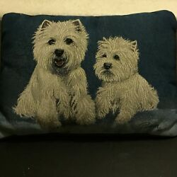 Vintage Scottie Dog Terrier Schnauzer Duo Pillow Tapestry