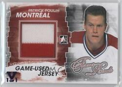 2012-13 Itg Forever Rivals Series Silver Vault Purple 1/1 Patrick Poulin Patch