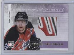 2008-09 Itg Heroes And Prospects Top Emblem Gold 1/1 Drew Doughty Tpe-16 Rookie