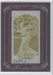 2012 Topps Gypsy Queen Printing Plate Minis Yellow Framed 1/1 Mark Trumbo 34