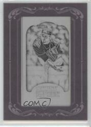 2012 Topps Gypsy Queen Printing Plate Minis Black Framed 1/1 Anibal Sanchez 13